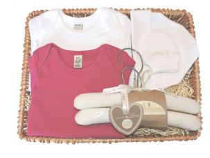 Mary Mary Girl Baby Gift Basket by Mulberry Organics